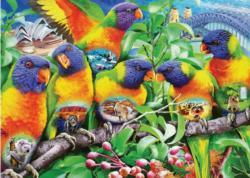 Land of the Lorikeet Birds Jigsaw Puzzle