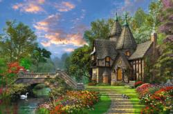 Tranquil Countryside Cottage/Cabin Jigsaw Puzzle