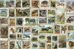 Animal Stamps Wildlife Jigsaw Puzzle