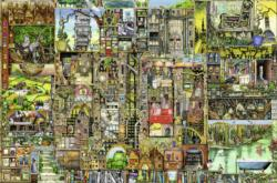 Bizarre Town Lakes / Rivers / Streams Jigsaw Puzzle