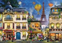 Evening Walk in Paris Eiffel Tower Jigsaw Puzzle