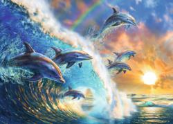 Dancing Dolphins Sunrise / Sunset Jigsaw Puzzle