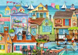 Down the Wharf Cottage / Cabin Jigsaw Puzzle