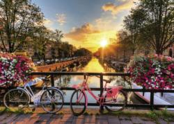 Bicycles in Amsterdam Amsterdam Jigsaw Puzzle
