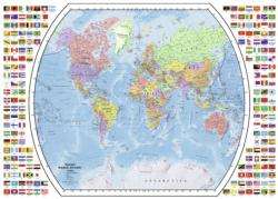 Political World Map Flags Jigsaw Puzzle