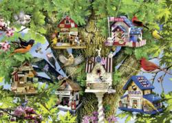 Bird Village Collage Jigsaw Puzzle