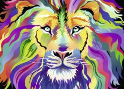 King of Technicolor Lions Jigsaw Puzzle