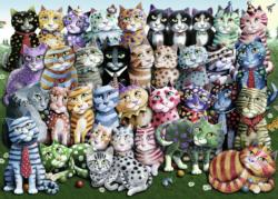 Cat Family Reunion Collage Jigsaw Puzzle