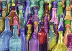 Colorful Bottles Collage Jigsaw Puzzle
