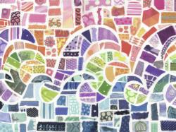Wave Mosaic Pattern / Assortment Jigsaw Puzzle