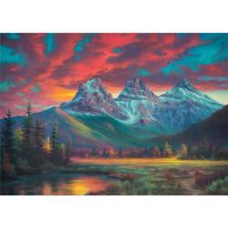 Alberta's Three Sisters Canada Jigsaw Puzzle