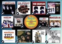 Beatles: Albums 1964-66 Collage Jigsaw Puzzle