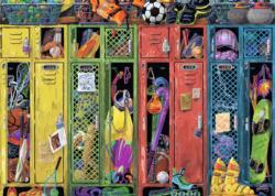 The Locker Room Sports Jigsaw Puzzle