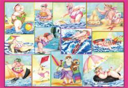 Bathing Beauties Beach Jigsaw Puzzle