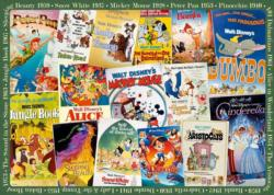 Disney Vintage Movie Posters Collage Jigsaw Puzzle