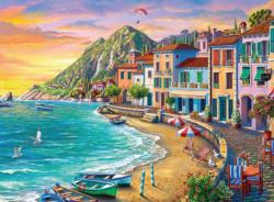 Romantic Sunset Sunrise / Sunset Jigsaw Puzzle