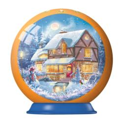 Scenic Winter Cottage Ornament Christmas 3D Puzzle