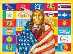 Flags of Our Fathers Native American Jigsaw Puzzle