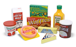 Wooden Fridge Food Set Food and Drink Pretend Play