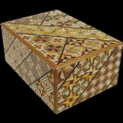 Japanese Puzzle Box - 4 Sun 14 Step Koyosegi Pattern Brain Teaser