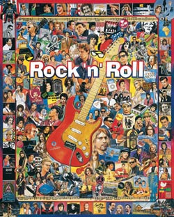 Rock 'n' Roll Collage Jigsaw Puzzle