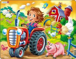 Farm Kid With Tractor Farm Children's Puzzles