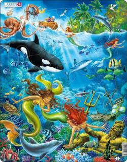 Mermaids Puzzle Under The Sea Children's Puzzles
