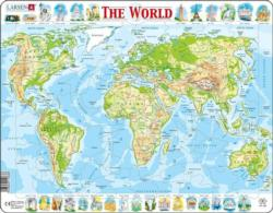 Physical World Maps / Geography Children's Puzzles
