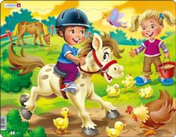 Farm Kids With Pony Horses Children's Puzzles