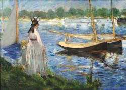 The Banks Of The Seine At Argenteuil Lakes / Rivers / Streams Jigsaw Puzzle