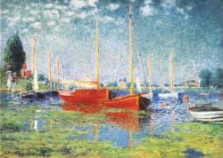 Red Boats at Argenteuil Boats Jigsaw Puzzle