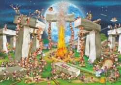 Stonehenge Cartoon Jigsaw Puzzle