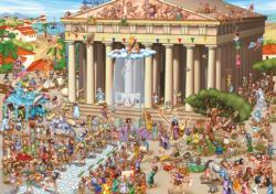Parthenon Cartoon Jigsaw Puzzle