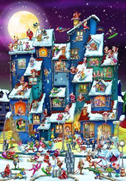Santa Cartoon Jigsaw Puzzle