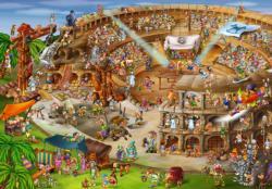 Colosseum Cartoon Jigsaw Puzzle