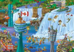 Niagara Falls Cartoon Jigsaw Puzzle