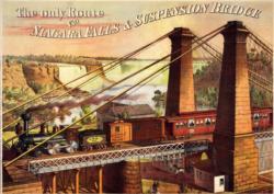 Niagara Falls Suspension Bridge Waterfalls Jigsaw Puzzle