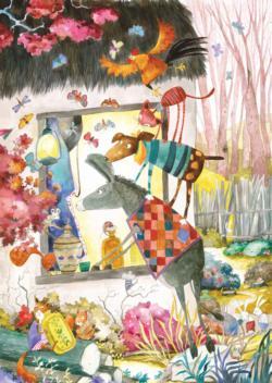The Bremen Town Musicians Cartoon Children's Puzzles
