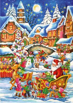 Santa's Christmas Eve Visit Christmas Children's Puzzles