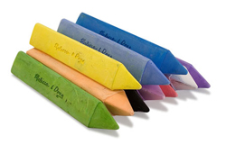 10 Jumbo Triangular Chalk Sticks Arts and Crafts