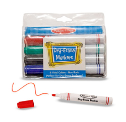 Dry-Erase Marker Set Arts and Crafts