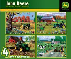 500pc John Deere 4-Pack John Deere Jigsaw Puzzle
