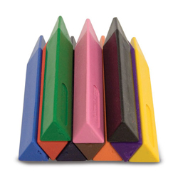Jumbo Triangular Crayons - Scratch and Dent Children's Coloring Books, Pads, or Puzzles