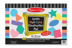 Jumbo Multi-Color Construction Pad - 12 x 18 Arts and Crafts