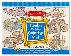 Vehicles (Jumbo Coloring Pad) Arts and Crafts