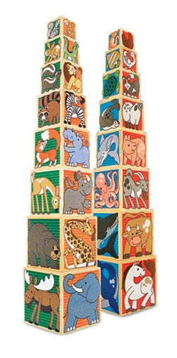Wooden Animal Nesting Blocks Tigers Wooden Jigsaw Puzzle