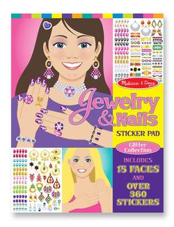 Jewelry & Nails Glitter Collection Sticker Pad Activity Books and Stickers
