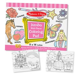 Jumbo Coloring Pad - Pink Arts and Crafts
