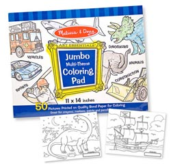 Jumbo Coloring Pad - Blue Arts and Crafts
