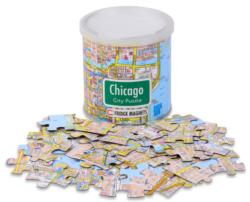 City Magnetic Puzzle Chicago Maps / Geography Magnetic Puzzle